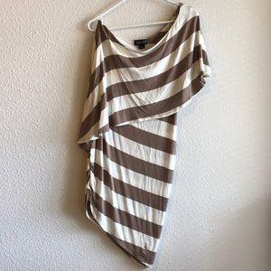 Baby Phat One Shoulder Stripe Dress
